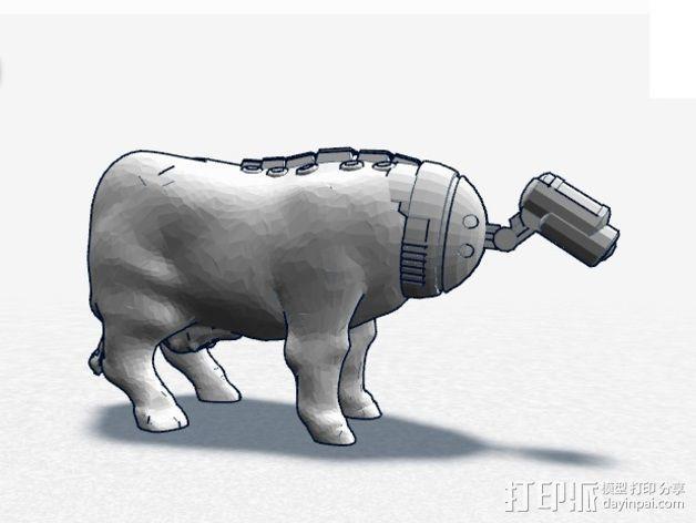 奶牛机器人 3D模型  图2