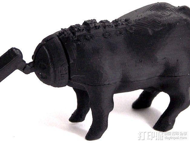 奶牛机器人 3D模型  图4