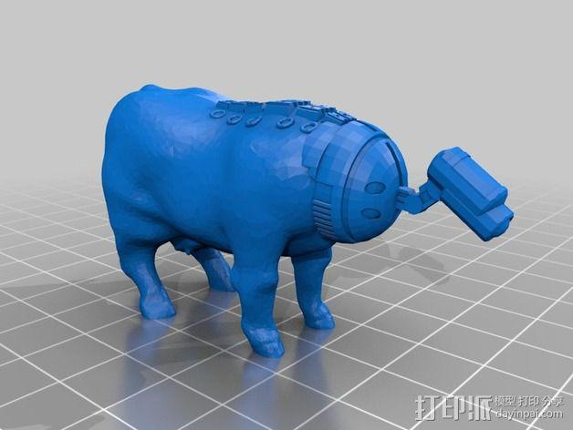 奶牛机器人 3D模型  图5