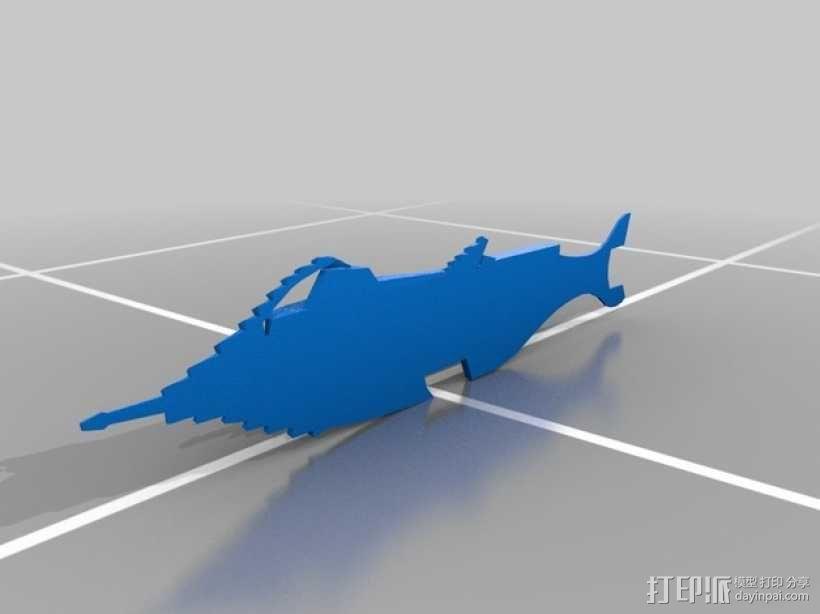 鹦鹉螺潜艇 3D模型  图4