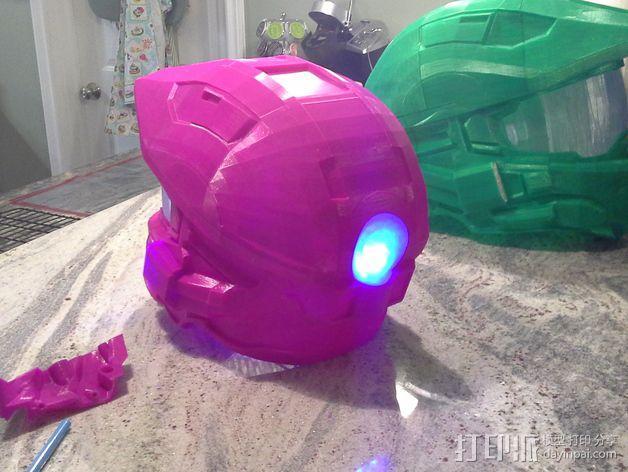 光晕头盔后灯部件 3D模型  图1