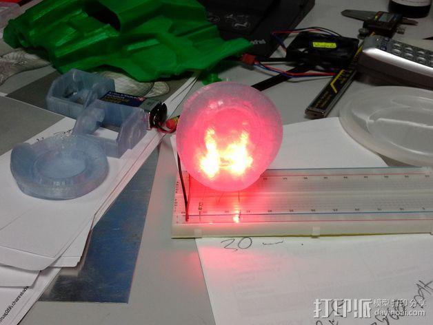 光晕头盔后灯部件 3D模型  图2