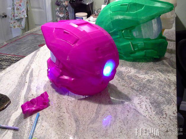光晕头盔后灯部件 3D模型  图3