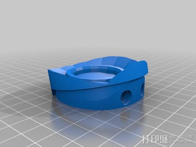 光晕头盔后灯部件 3D模型  图4