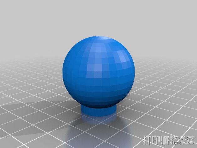 橱柜门把手 3D模型  图2