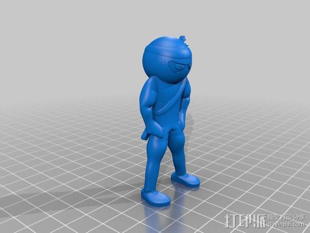 日本武士 3D模型  图3
