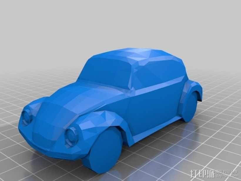 大众甲壳虫汽车 3D模型  图1