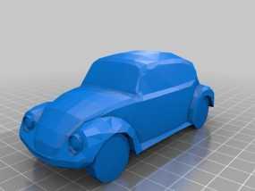 大众甲壳虫汽车 3D模型