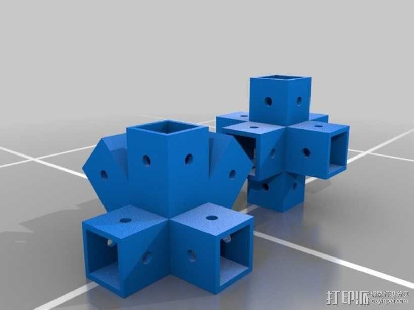 中心连接器 3D模型  图1