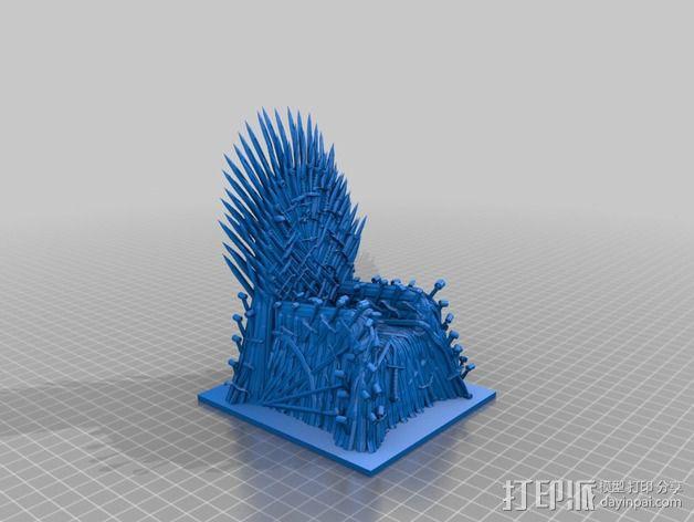 王座 座椅 3D模型  图2