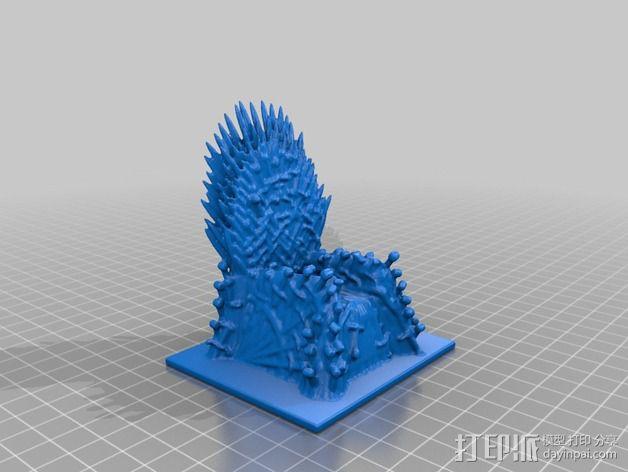 王座 座椅 3D模型  图3
