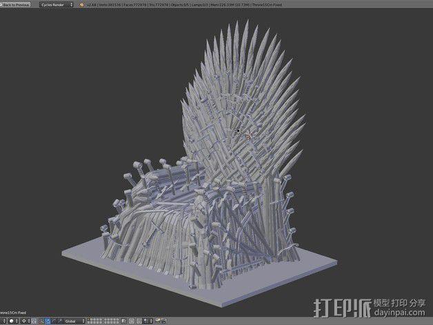王座 座椅 3D模型  图6