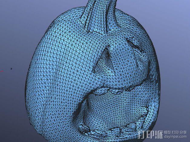 杰克灯 南瓜灯 3D模型  图3