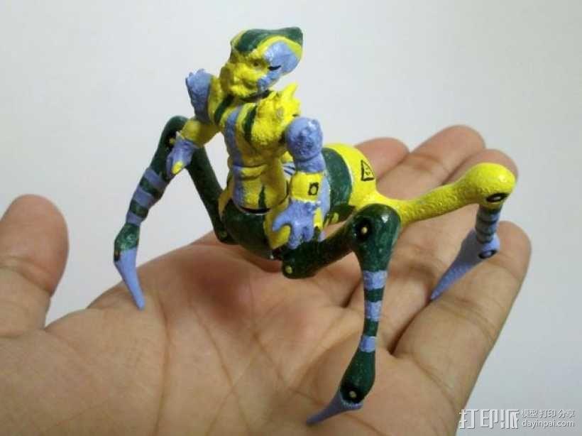 蜘蛛外星人 3D模型  图1
