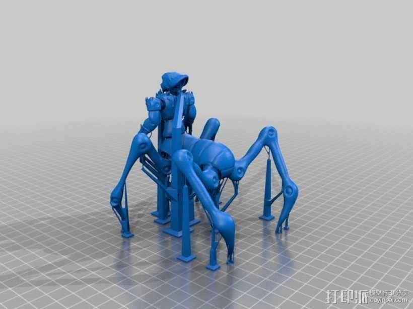 蜘蛛外星人 3D模型  图2