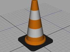 锥形交通路标 3D模型