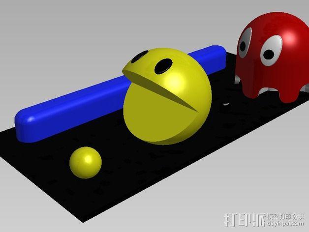 吃豆人和小幽灵 3D模型  图1