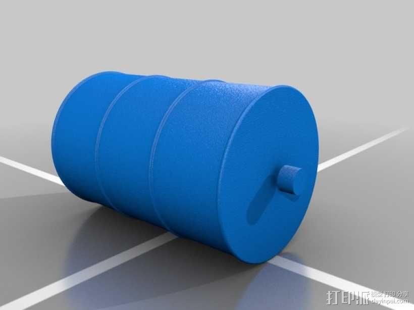 油桶 3D模型  图1