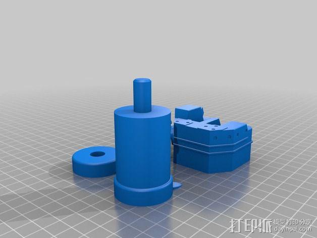 多管火炮 3D模型  图2