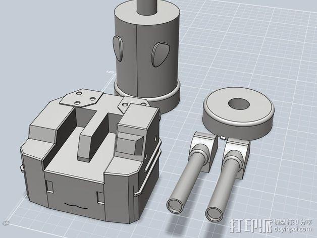 多管火炮 3D模型  图1