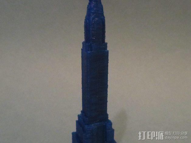 克莱斯勒大厦 3D模型  图2