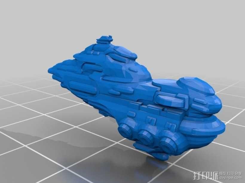 Eve Online星战前夜无畏号星舰 3D模型  图2