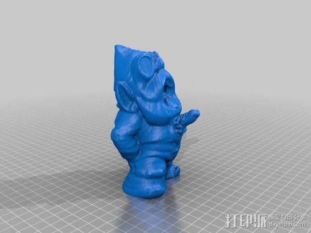 外星小矮人 3D模型  图1