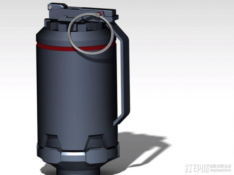 手榴弹 3D模型  图1