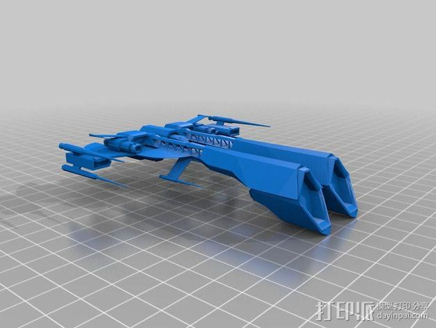Wolf Attack Frigate护卫舰 3D模型  图2