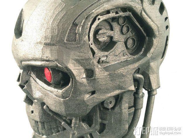 机械骷髅头 3D模型  图2