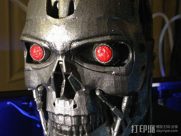 机械骷髅头 3D模型  图3