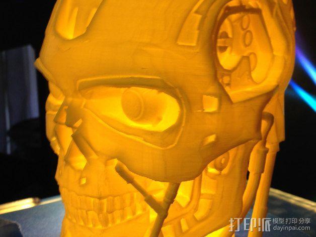 机械骷髅头 3D模型  图5
