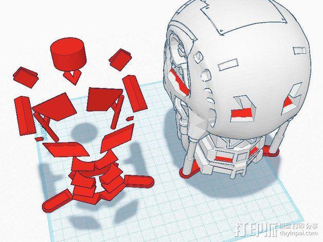 机械骷髅头 3D模型  图7