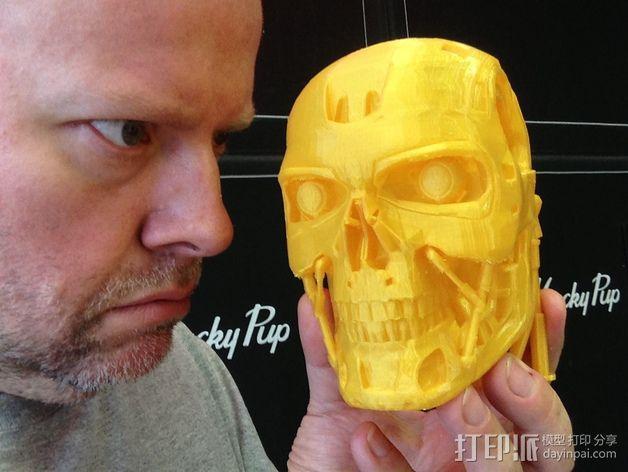 机械骷髅头 3D模型  图6