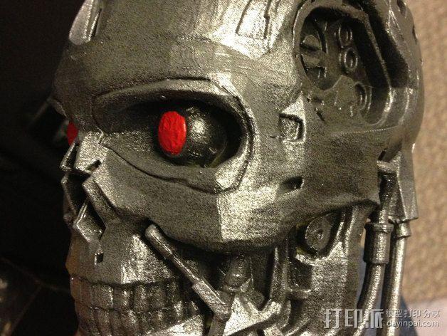 机械骷髅头 3D模型  图4