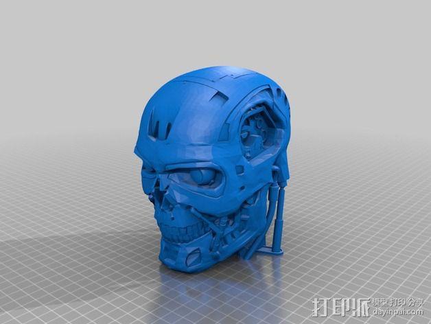 机械骷髅头 3D模型  图9