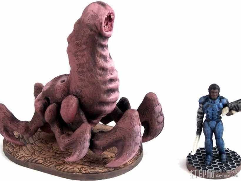 Cave Worm游戏造型 3D模型  图1