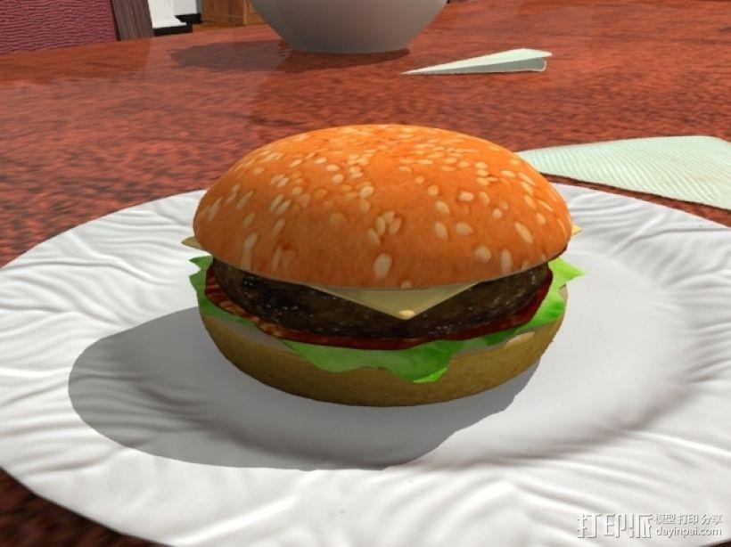 汉堡包 3D模型  图1