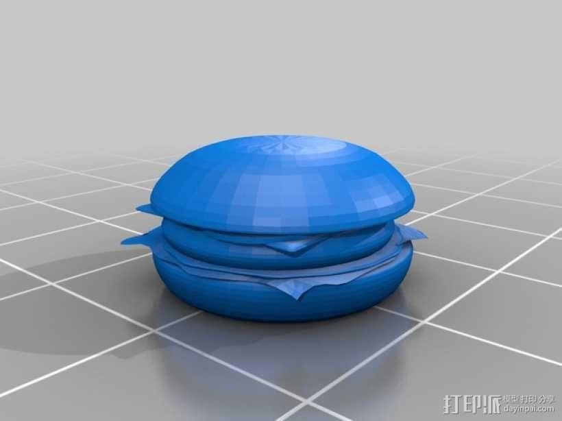 汉堡包 3D模型  图2