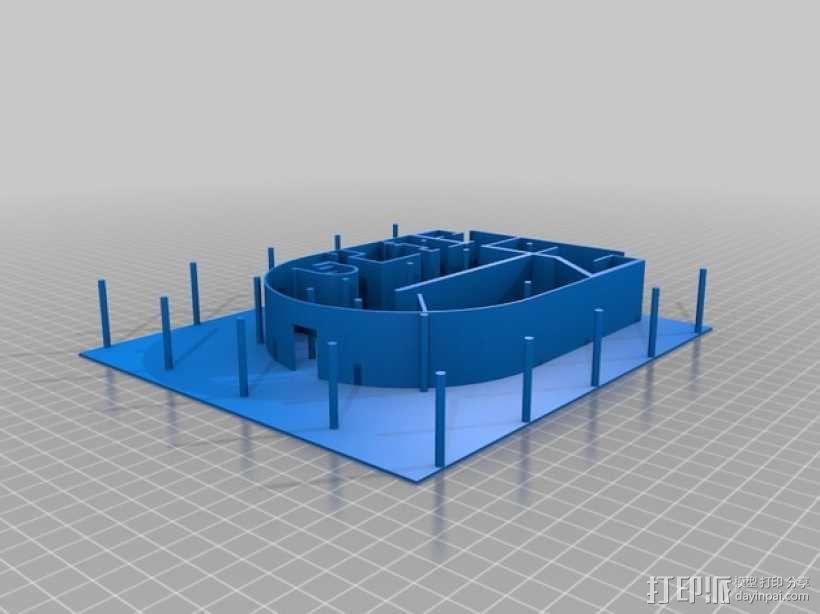 SAVOYE萨伏伊别墅 3D模型  图3