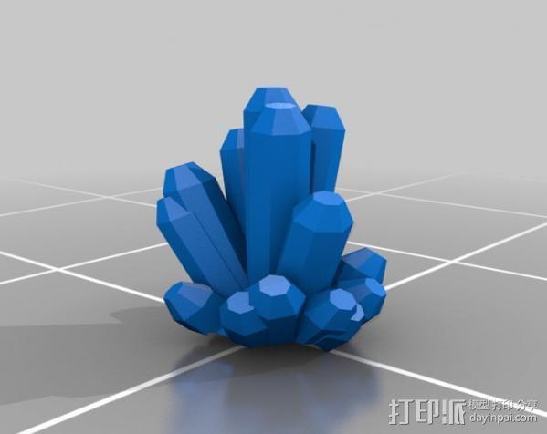 幸运水晶 3D模型  图1