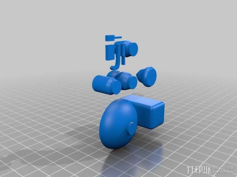陶艺拉柸机 3D模型  图6