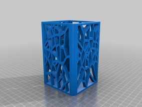 镂空笔筒 3D模型