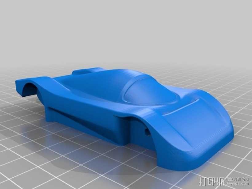 梅赛德斯C9超级跑车 3D模型  图1