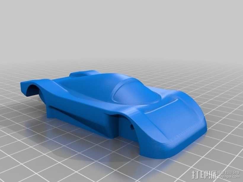 梅赛德斯C9超级跑车 3D模型  图2
