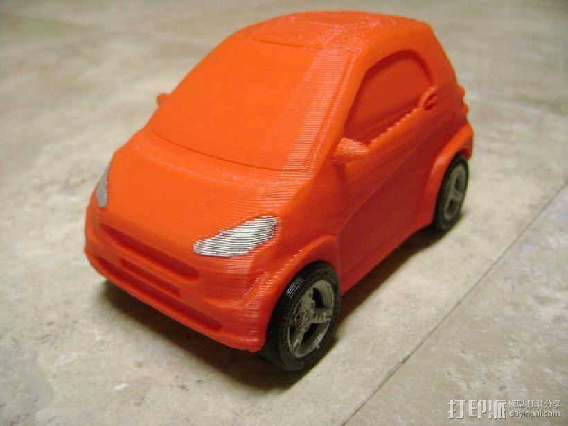 奔驰Smart fortwo汽车模型 3D模型  图1