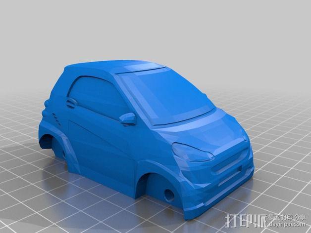 奔驰Smart fortwo汽车模型 3D模型  图3