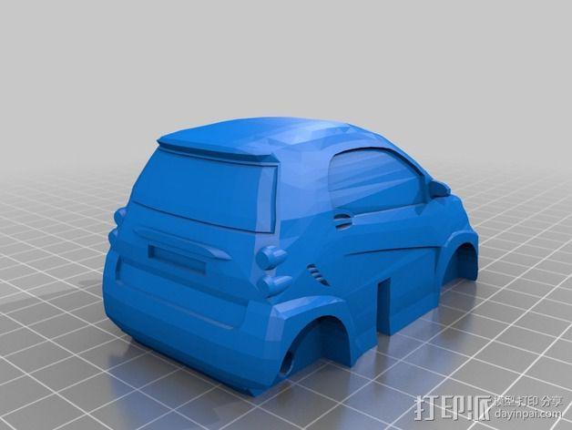 奔驰Smart fortwo汽车模型 3D模型  图4