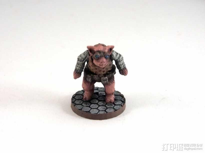 Pigdexter小猪战士 3D模型  图1