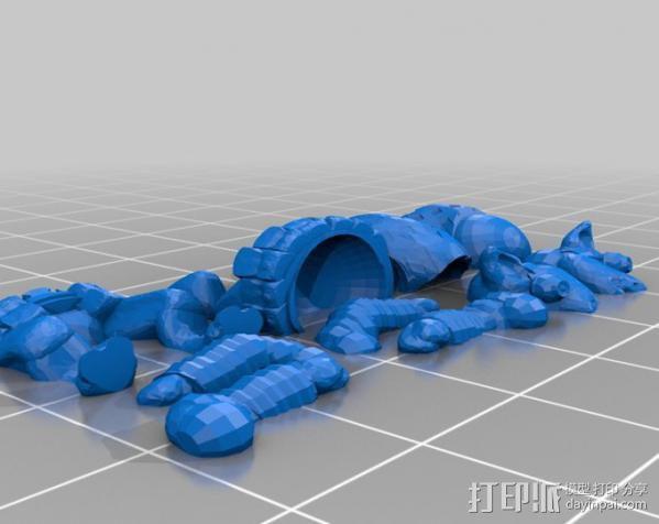 Pigdexter小猪战士 3D模型  图3